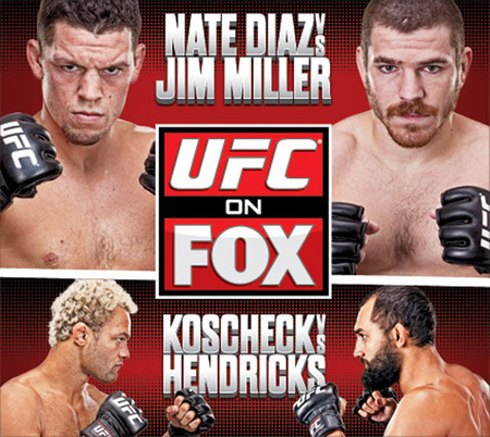 UFC on Fox - walka  Nate Diaz - Jim Miller  PL.TVRip.XviD / Lektor PL